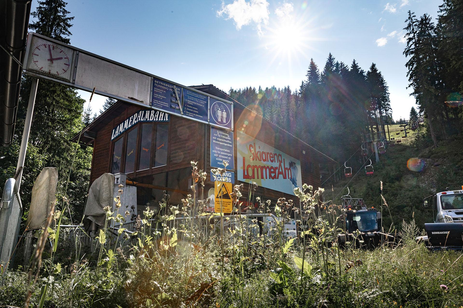Geschlossenes Skigebiet Lammeralm in der Steiermark